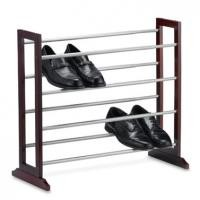 Four Tier Expanding Home Display Rack For Shoes Storage Folding Feature