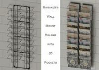 Wall Mount Magazine Office Display Racks With 20 Literature Pockets Size A4