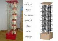 96 Pockets Floor Spinner Display Rack , Top Graphict Greeting Card Spinner