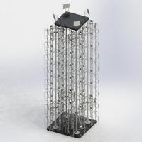 """4 Columns Rotating Metal Book Display Stand With MDF Base W5.5"""" X D1.5"""" X H8"""""""
