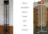 360 Degree Revoling Metal Book Display Stand For DVD 4 Sides Square Shape