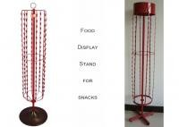 Snake Package Potato Chip Display Rack / Six Sides Hanging Potato Chip Stand