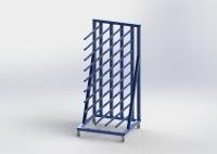 5FT Length Vinyl Rolling Industrial Display Stands , Heavy - Duty Display Stands