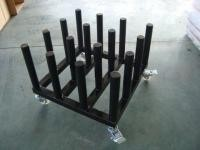 Iron Tube Industrial Display Stands Cart For Vinyl Upright Rolls Easy Movement