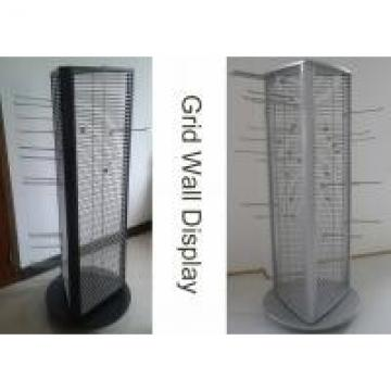 Rotating Triangle Wire Grid Display Stands