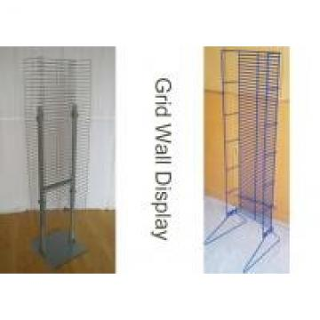 """Universal 1"""" Space Metal Floor Display Stands With Single Or Double Sides"""