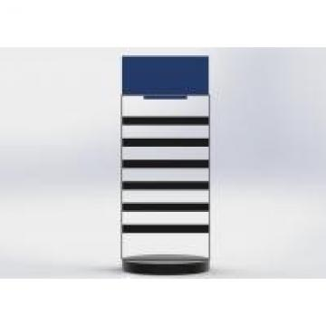 Double Sides Rotated Metal Table Top Display Stands With Top Sign For Brand Logo