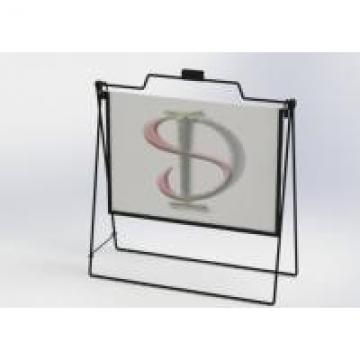 Steel Rod Open A Frame Display Stands / Landscape Simplicity Metal Wire Display