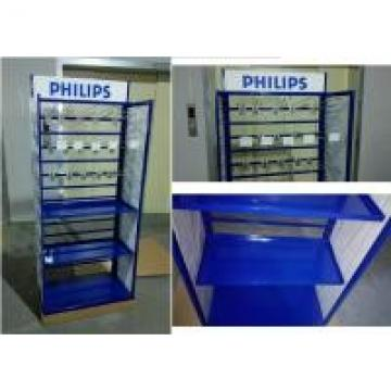 Metal Tube Frame Branded Display Stands With Customized Graphic Sign Versatility
