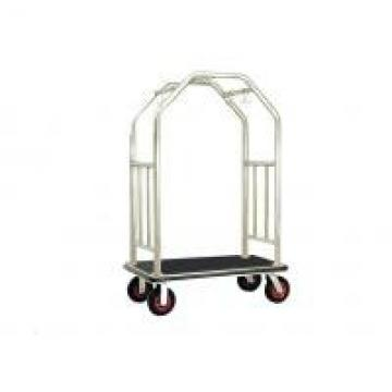 Bright Luggage Cart Hotel Display Stand With Hooks / Luggage Cart Hotel Luggage