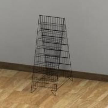 Double Sides16 Shelves Office Display Racks For Maganize Foldable Literature