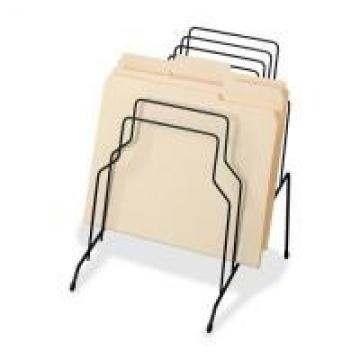 Counter Top File Sorter Office Display Racks With Welded Wire Divider Structure