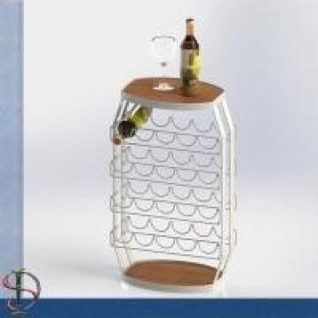 23 Bottles Wine Barrel Food Display Stands For Store / Home Not Knocked Down