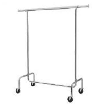 Chrome Tube Stainless Steel Clothes Rack , Metal Heavy Duty Clothes Rack