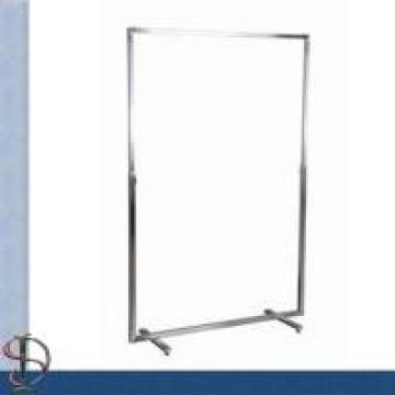 Commercial Metal Clothing Display Rack For Store Garments Shining Surface