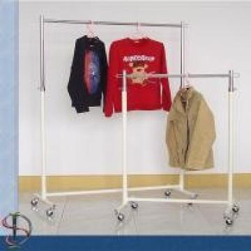 Econoco Commercial Metal Clothing Display Rack For Garment Store Nest Shipping