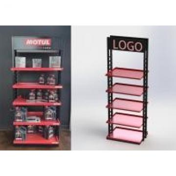 5 Shelves Heavy Duty Display Stand Auto Parts Display Racks For / POP Oil