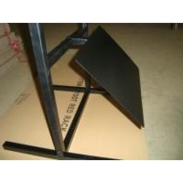 Black Tire Auto Parts Display Racks With Front Metal Sheet One Tyre Stand