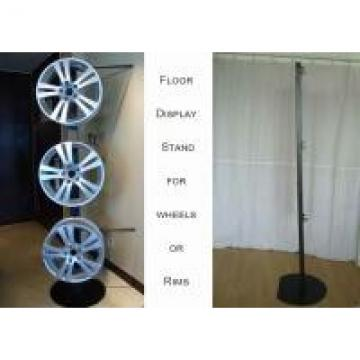 One Side Wheels Auto Parts Display Racks With Metal Tube Frame Heavy Weight