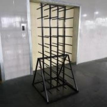 Metal Double Sides Roller 80 Arm Industrial Display Stands For Vinyl Roll