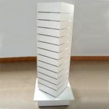 Retail MDF Spinner Display Stands / Square Shaped Retail Floor Display Stands