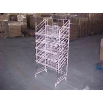 Adjustable Height Metal Wire Display Racks For Supmarket Folding Feature